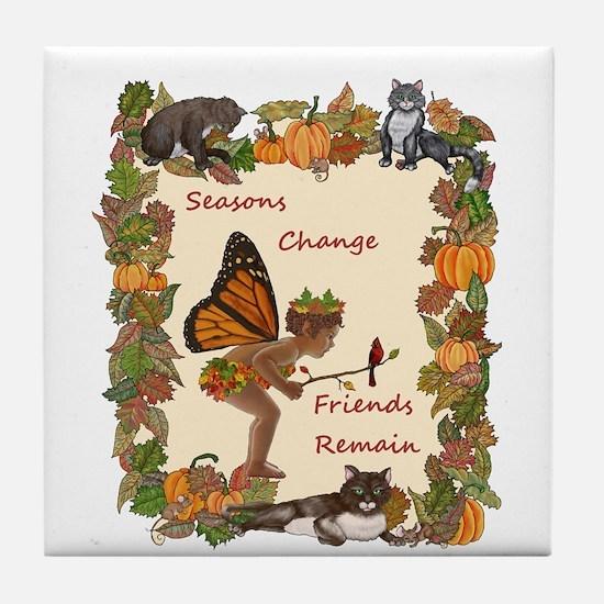 Seasons Change Tile Coaster