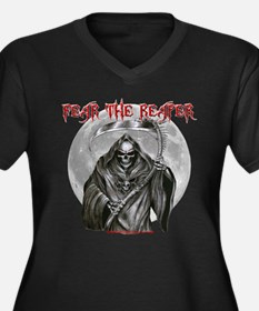 Fear The Reaper Women's Plus Size V-Neck Dark T-Sh