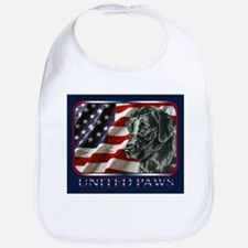 Black Lab USA Flag Bib