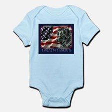 Black Lab USA Flag Infant Creeper