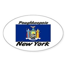 Poughkeepsie New York Oval Decal