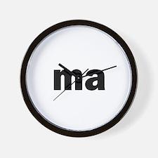 ma Wall Clock