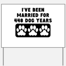 64th Anniversary Dog Years Yard Sign