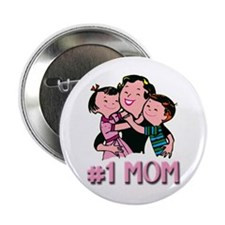 #1 Mom Button (Pink)