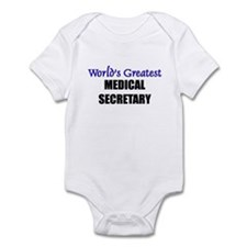 Worlds Greatest MEDICAL SECRETARY Onesie
