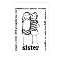 Sisters (3) Postcards (Package of 8)
