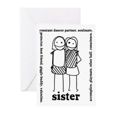 Sisters (3) Greeting Cards (Pk of 20)