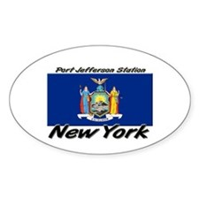 Port Jefferson Station New York Oval Decal