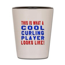 Curling Player Looks Like Shot Glass