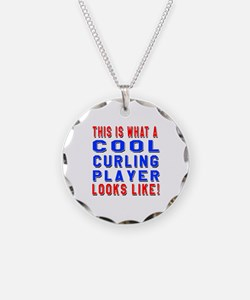 Curling Player Looks Like Necklace