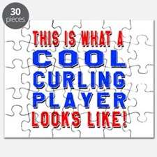 Curling Player Looks Like Puzzle