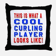 Curling Player Looks Like Throw Pillow