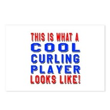 Curling Player Looks Like Postcards (Package of 8)