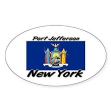 Port Jefferson New York Oval Decal