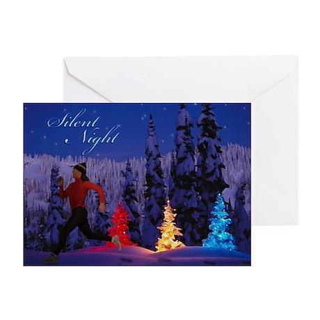 Silent Night - Christmas Scene (Female Runner) Gre