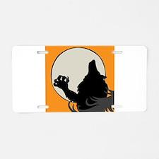 Howling Werewolf Aluminum License Plate