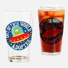 Adoptee Alien Drinking Glass