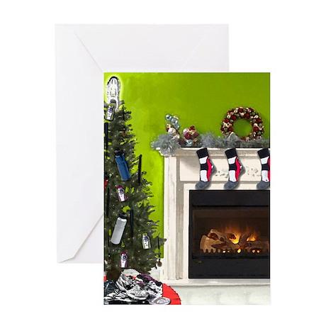 Runner's Christmas Tree Greeting Card