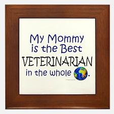 Best Veterinarian In The World (Mommy) Framed Tile
