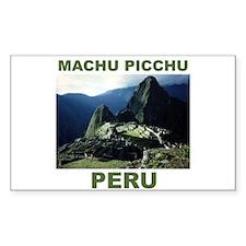 MACHU PICCHU, PERU Rectangle Bumper Stickers