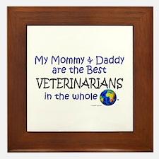 Best Veterinarians In The World Framed Tile