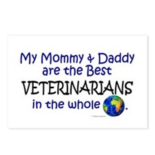 Best Veterinarians In The World Postcards (Package