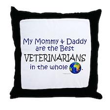 Best Veterinarians In The World Throw Pillow