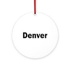 Denver Ornament (Round)