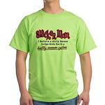 Slacker Mom Immune System Green T-Shirt