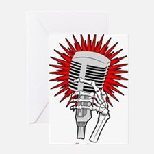 Unique Microphone Greeting Card