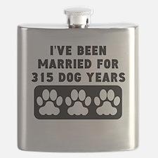 45th Anniversary Dog Years Flask