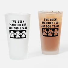 40th Anniversary Dog Years Drinking Glass