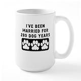 40th wedding anniversary Large Mugs (15 oz)