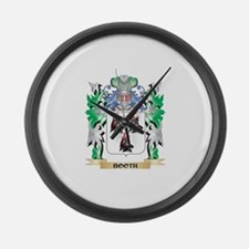 Booth Coat of Arms - Family Crest Large Wall Clock