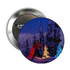 Runner's Holiday Scene (Female Runner) Button
