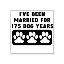 25th Anniversary Dog Years Sticker