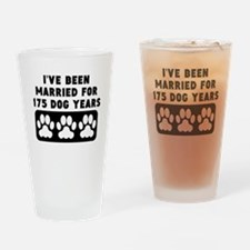 25th Anniversary Dog Years Drinking Glass