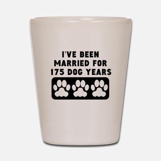 25th Anniversary Dog Years Shot Glass