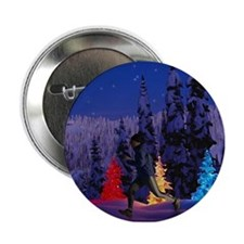 Runner's Holiday Scene (Male Runner) Button