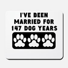 21st Anniversary Dog Years Mousepad