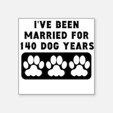 20th Anniversary Dog Years Sticker