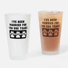 20th Anniversary Dog Years Drinking Glass