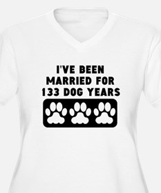 19th Anniversary Dog Years Plus Size T-Shirt