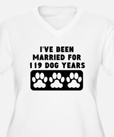 17th Anniversary Dog Years Plus Size T-Shirt