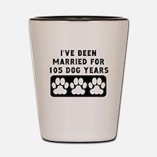 15th Anniversary Dog Years Shot Glass