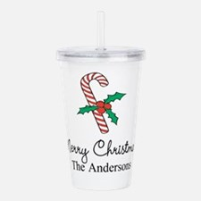 Personalized Christmas candy cane Acrylic Double-w