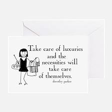 Luxuries Greeting Card