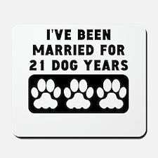 3rd Anniversary Dog Years Mousepad