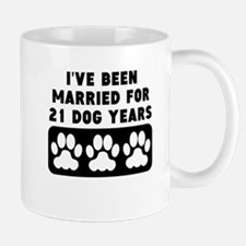3rd Anniversary Dog Years Mugs