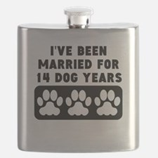 2nd Anniversary Dog Years Flask